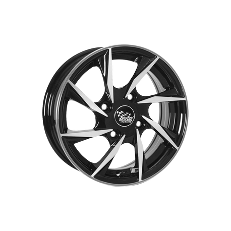 4 jantes S118 - 14' - Black Polished