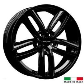 4 jantes Italian Wheels DERVIO Black 17 pouces