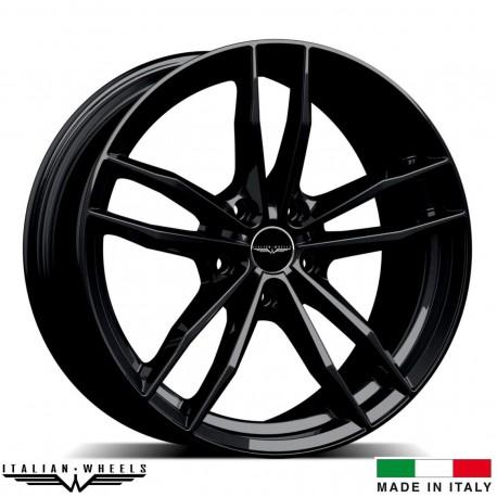"4 Jantes SOLTO - Italian wheels - 17"" - Noir"