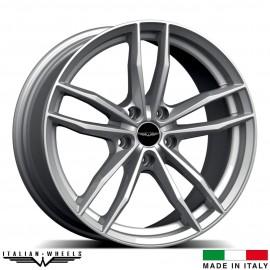 "4 Jantes SOLTO - Italian wheels - 17"" - Argent"