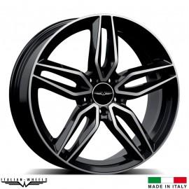 """4 Jantes FIRENZE - Italian wheels - 17"""" - Noir poli"""
