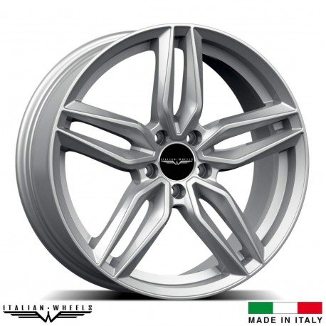 "4 Jantes FIRENZE - Itlaian wheels - 17"" - Argent"