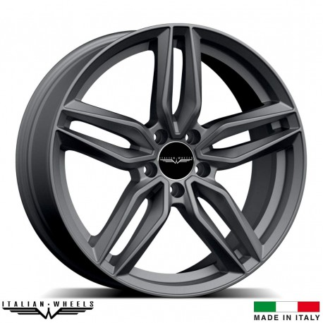 "4 Jantes FIRENZE - Italian wheels - 18"" - Anthracite"